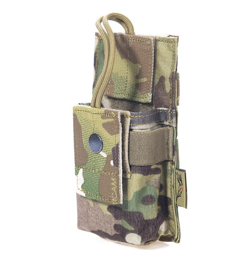 FLYYE MOLLE Short Radio Pounch Hunting Camping Hiking Climb Outdoor Tactical Military CORDURA Combat PH-C009