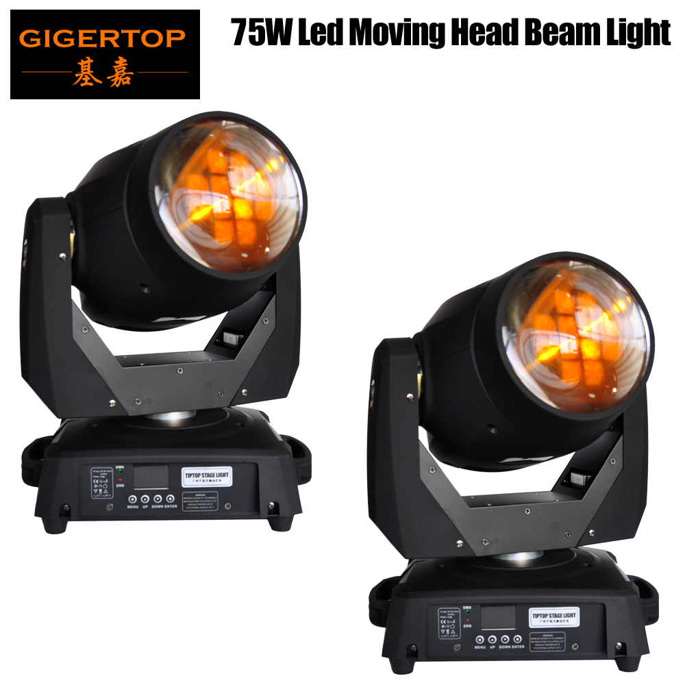 TP L606A 2PCS TIPTOP Huiliang Led 75W Led Moving Head Beam Light 15/19 DMX Channels Color Wheel Gobo Wheels Frost Lens 8 Prism