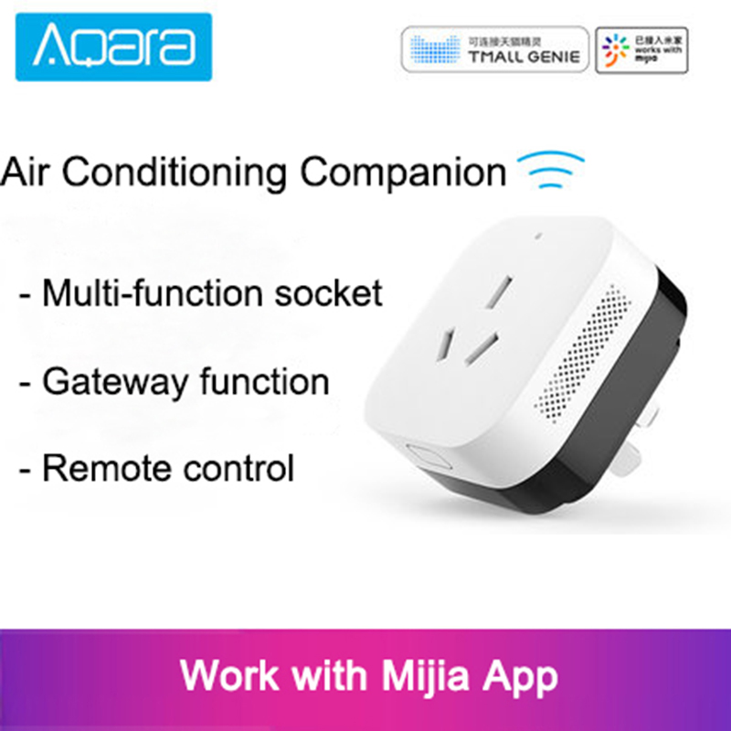 2018 Hot Xiaomi Gateway 3 Aqara Air Conditioning Companion Gateway illumination Detection Function Work With Mi