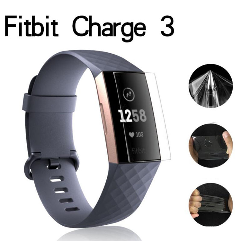 2pcs Anti-Scratch Soft TPU Clear Protective Film Guard For Fitbit Charge 3 Charge3 Smart Wristband Full Screen Protector Cover protective clear screen protector film guard for 10 laptop notebook transparent