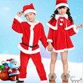 Cosplay Christmas Santa Claus Girl boys Warm Winter Clothes Outfits Set Pajamas Costume Fleece Gift for Kids
