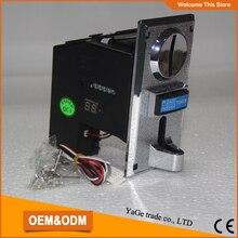 Electronic coin selector, multi vending machine coin acceptor