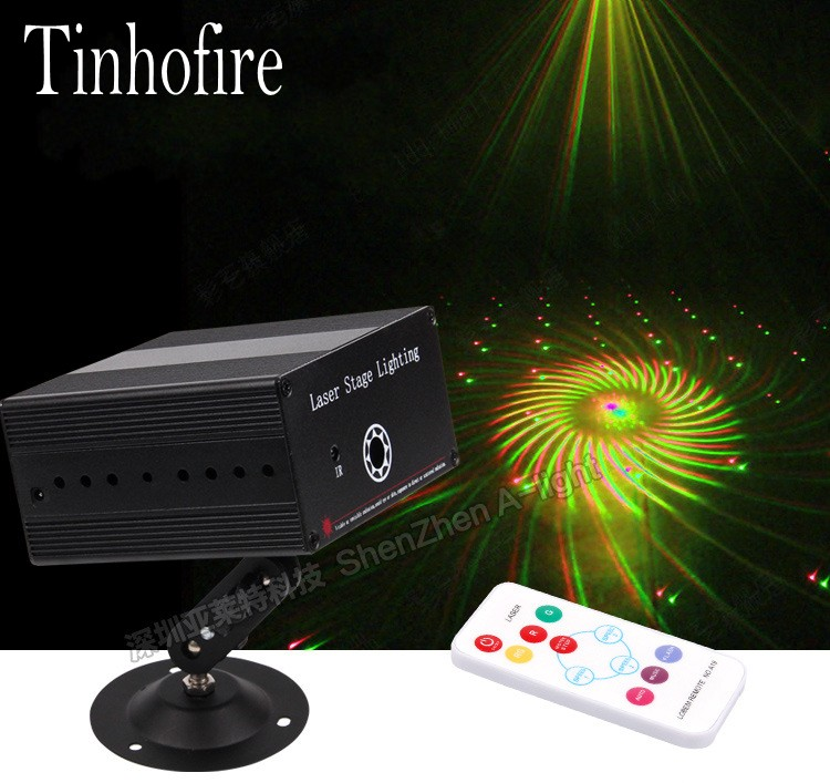 Tinhofire K-24 Large pattern whirlwind LED Stage Light Lamp R&G Laser Stage Lighting Sound Control Party KTV DISCO lights