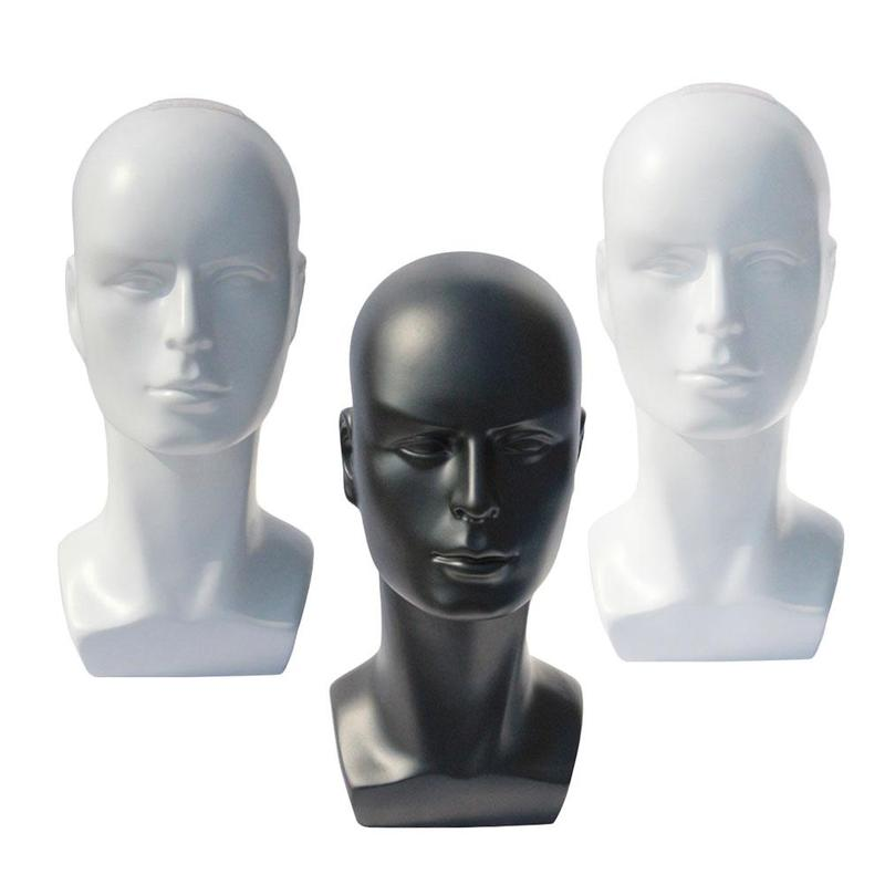 Cosmetology Bald Mannequin Heads With Table Clamp 21 Rubber Manikin Head Stand For Wigs Hats Jewelry Earring Makeup HMQ6485