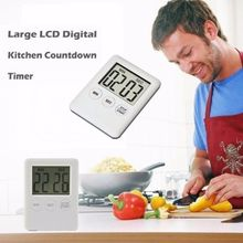 Alarm Clock 5 Colors Super Thin LCD Digital Screen Kitchen Timer Square Cooking Count Up Countdown mini kitchen clock digital lcd cooking timer stopwatch count down up clock square cooking timer alarm 100 minutes