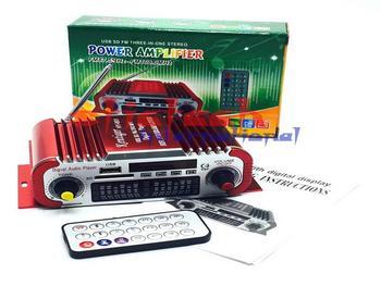DHL lub Fedex 5 sztuk wzmacniacz samochodowy MP3 FM USB odtwarzacz cyfrowy wyświetlacz mocy wzmacniacz z pilotem czerwony niebieski dla opcjonalnie tanie i dobre opinie stictech HY 601 Wielokanałowych 200mv 20Hz-20KHz metal Wzmacniacze Power amplifier piece 0 371 20cm x 20cm x 15cm (7 87in x 7 87in x 5 91in)