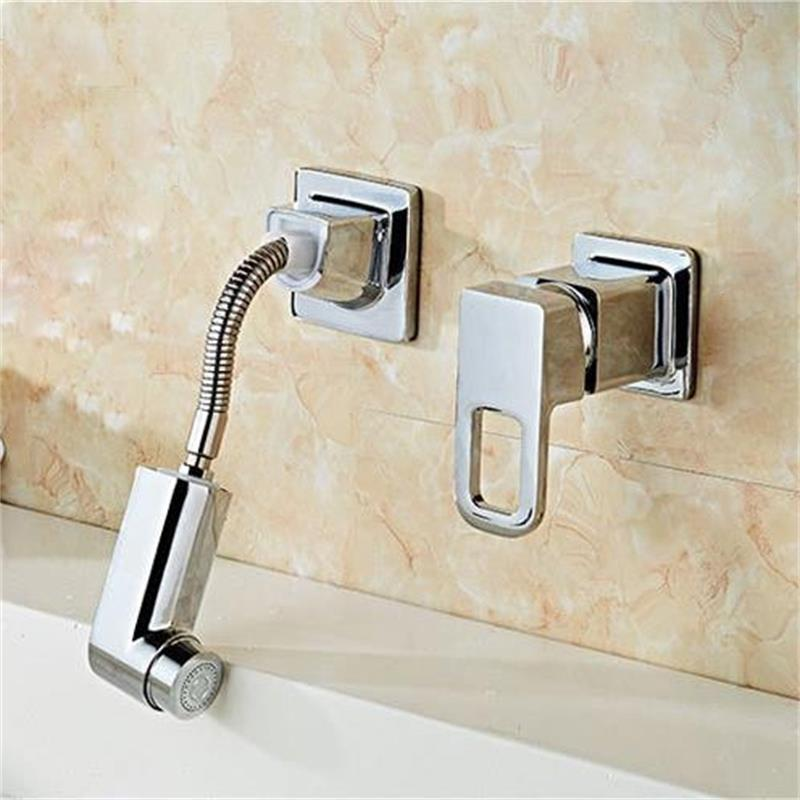 SAMOEL Chrome Finish Single Lever Home Bathroom Basin Faucet Spout Sink Cold Water Tap Kitchen Faucet Mixer