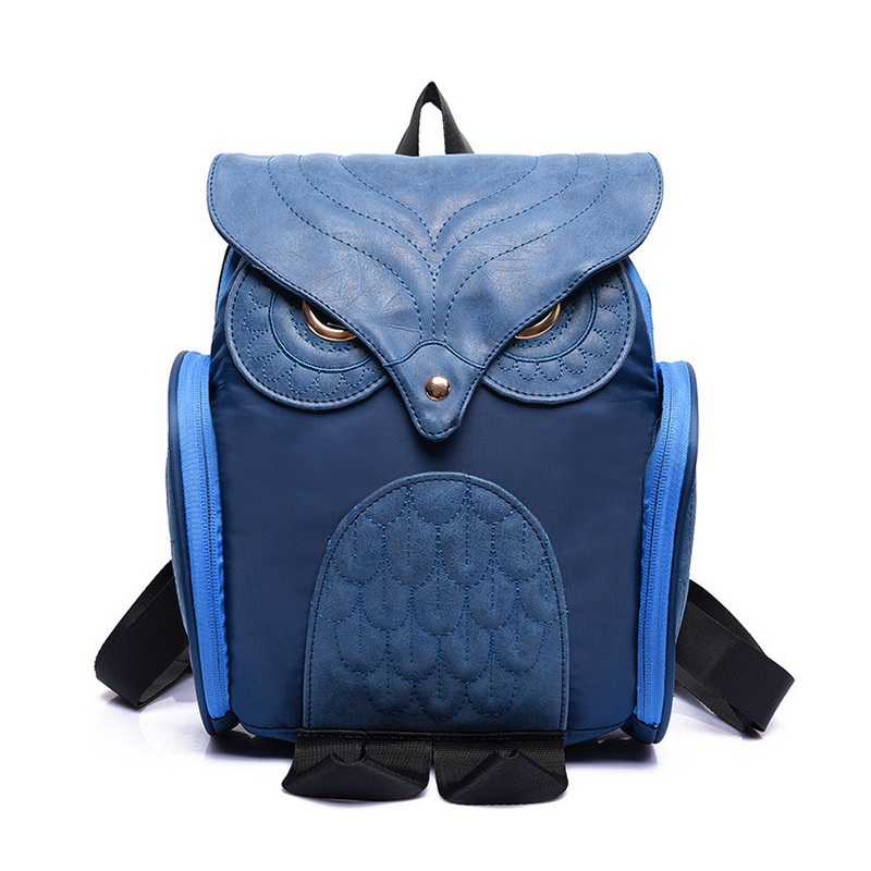 bb486a633881 Newest Fashion Women Nylon Owl Backpack Female Cartoon School Bags Mujer  Gothic Mochila Escolar Girls Stylish Cool Bagpack Black-in School Bags from  Luggage ...