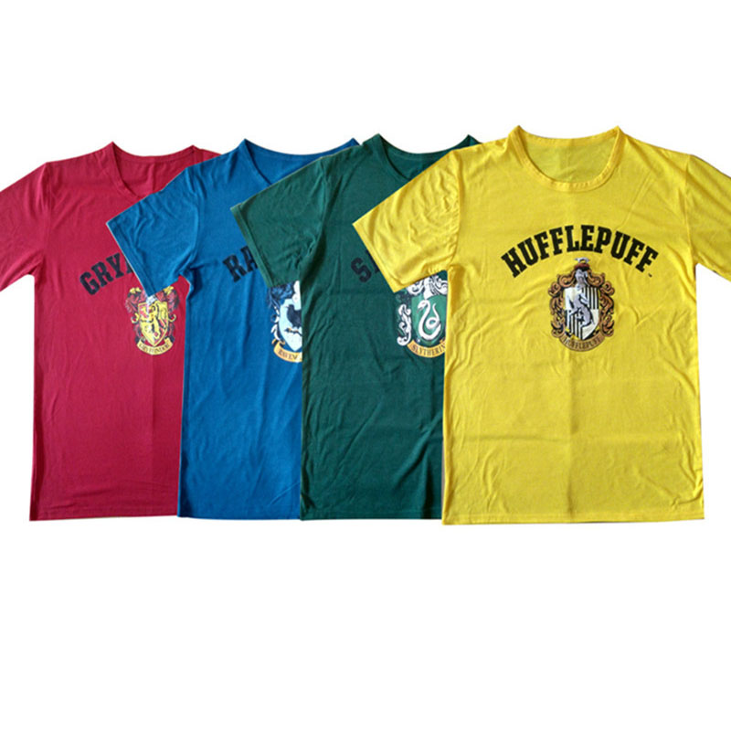 Harry Potter Cosplay Costume College T-Shirt Halloween Cos Clothing Ravenclaw Gryffindor Hufflepuff Slytherin Cosplay Magician