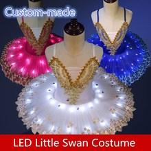 diy Luminous ballet skirt Childrens Dance Costume Little Swan gauze Adult fluorescent LED performance costumes
