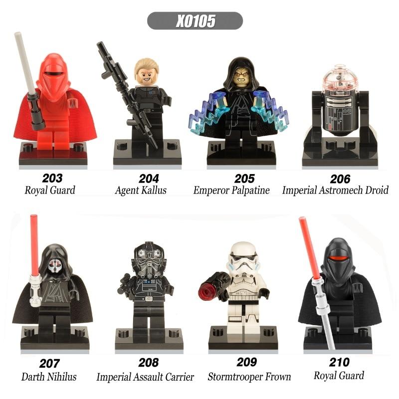 Single Sale Space Wars Darth Nihilus Sidious Kallus Shadow Troopers TIE Pilot Bricks Building Blocks Children Gift Toys X0105