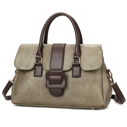 hot Women Leather Shoulder Bag Patchwork Sheepskin Ladies Casual Tote Large  Handbags Genuin Capacity Woman Shopping Bag AB-8305