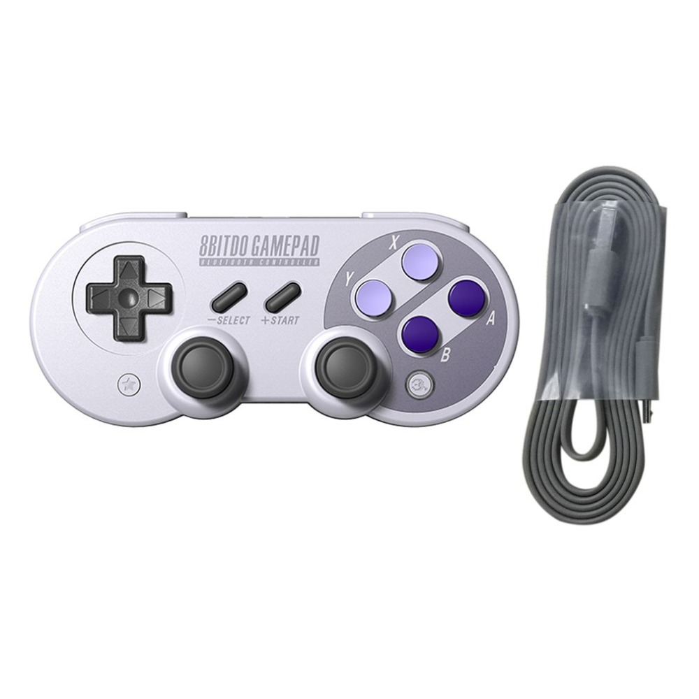 For 8Bitdo SNES30 Pro Wireless Bluetooth Controller Dual Classic Joystick for iOS Android Gamepad For Mac for Linux PC garden hose connector with hoses washer 4 way heavy duty hose tap splitter shut off knobs faucet for irrigation lawns