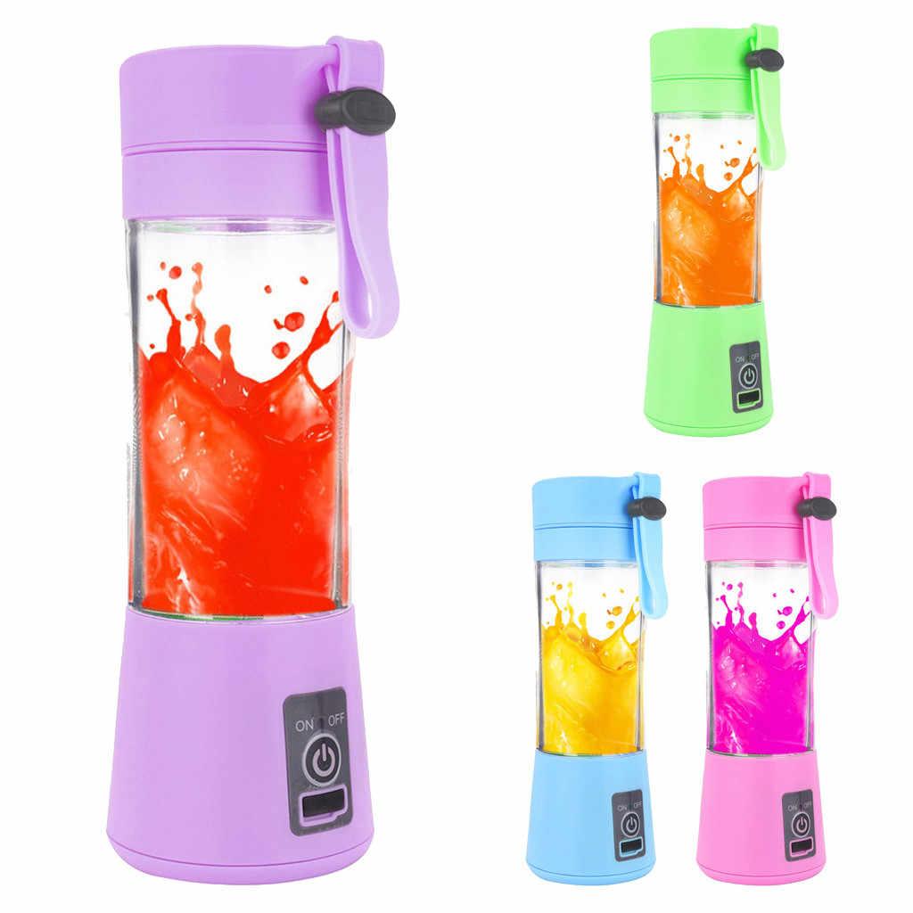 380 мл 4/6 лезвия портативная электрическая соковыжималка для фруктов USB Перезаряжаемый блендер для приготовления смузи машина Спортивная бутылка на заказ