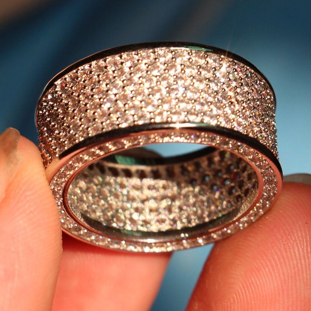 Promovare mare de lux 320pc 5A CZ 10kt aur alb umplut nunta Cercul - Bijuterii de moda - Fotografie 6