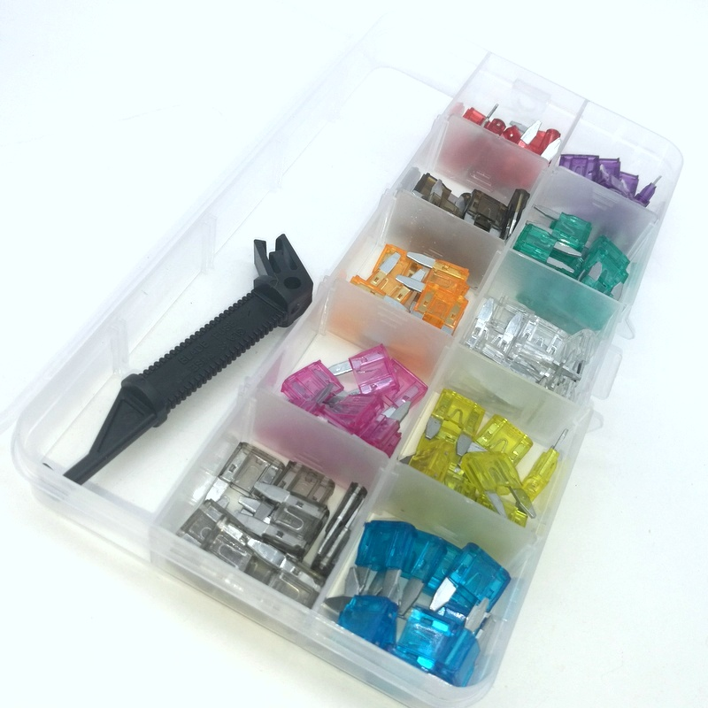 100pcs Mini Auto Car Blade Fuses Assortment Kit with Black Puller 2A-30A For Car Auto Truck