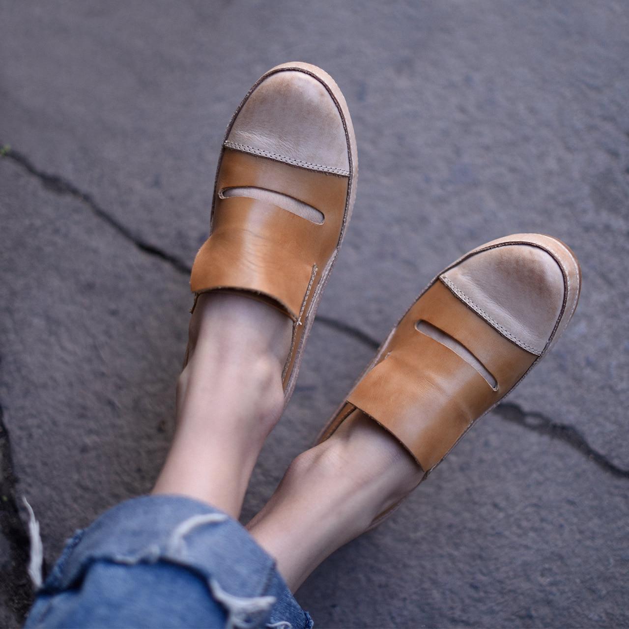 Chaussures De Creux Main Mocassins La Femme Lady Artmu Femmes En Mode Appartements Sapatos Femininos Casual À Oxford Cuir fpdIq