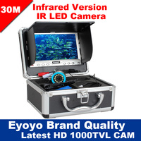 Free Shipping Eyoyo 30M 1000TVL Fish Finder Underwater Fishing 7 Video Infared Camera Monitor Anti Sunshine