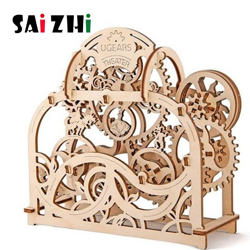 Saizhi bricolage modèle de transmission mécanique 3D en bois modèle Kits de construction jouets loisirs cadeau pour enfants adulte SZ4210