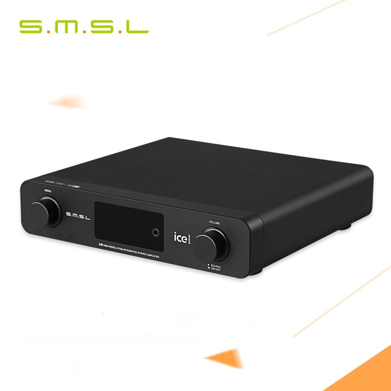 SMSL A6 AK4452 50Wx2 DSD512 Digital Decoder HIFI Audio Power Amplifier OPTIC/Coaxial/XMOS/USB DAC 384KHZ/32Bit ICE Power 50ASX2 new smsl sanskrit pro b hifi digital audio bluetooth 4 0 decoder 32bit 384khz dsd usb coaxial optial dac cm6632a ak4490eq