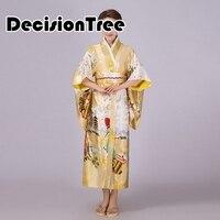 2019 summer women japanese traditional kimono with obi vintage female evening kimono dress japan kimono flower yukata bathrobes
