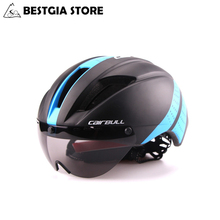CAIRBULL Magnetic Goggle Cycling Helmet Ultralight In mold MTB Bicycle Helmets High Density Mountain Bike Helmet Casco Ciclismo