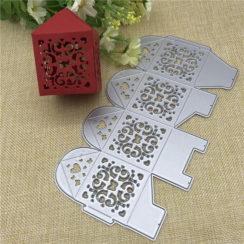 1pc Candy Box Cutting Dies Stencil Scrapbook Album Card Embossing Decoration