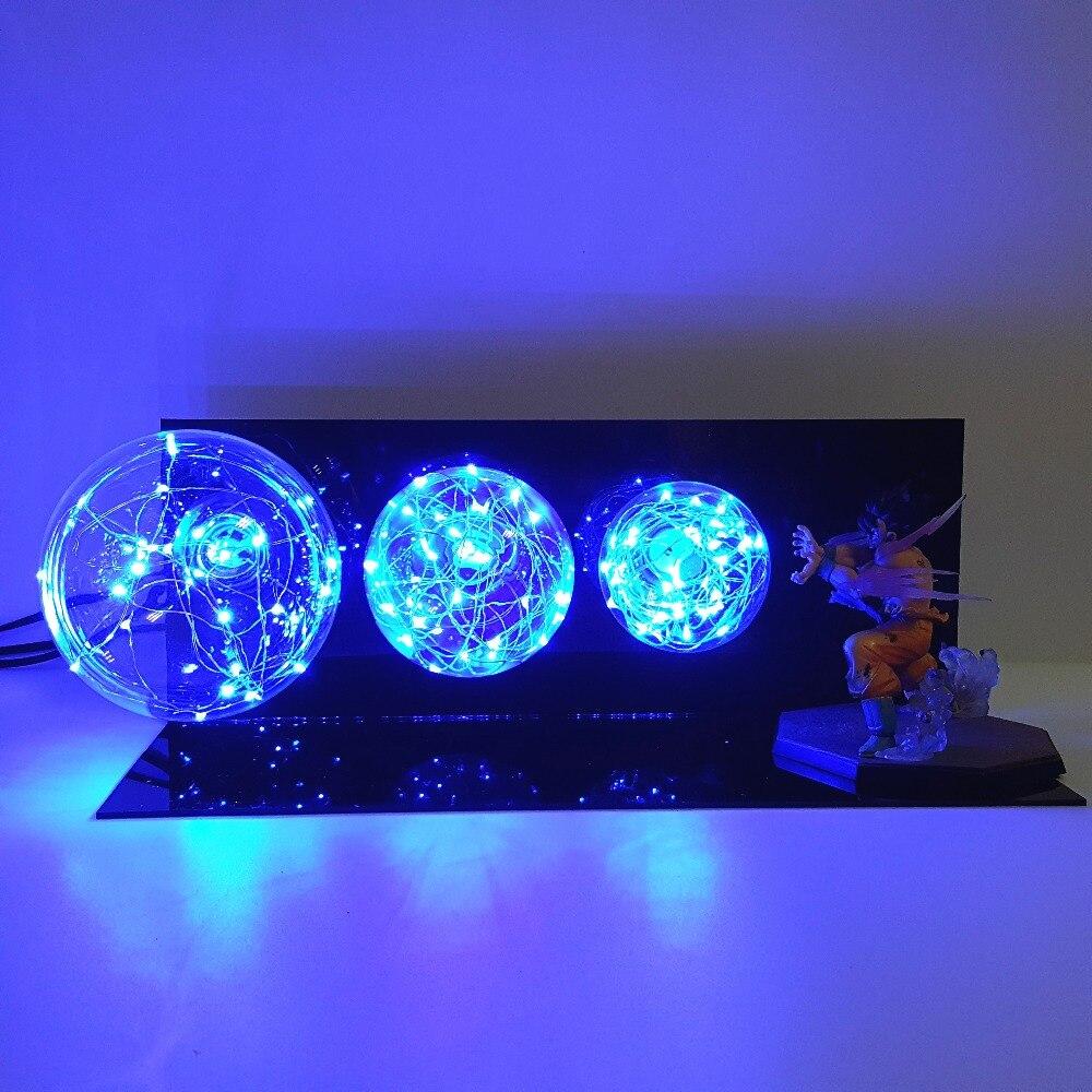 Dragon Ball Z Goku Kamehameha Lampe Led Veilleuses L'anime Dragon Ball Super Goku Éclairage Led Lampe de Bureau Lampara