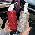 1 шт. Блестящий Полный Кристалл Алмаз коробка для салфеток держатель для автомобиля леди/бутылочка для девочек дизайн чашки диспенсер для б...