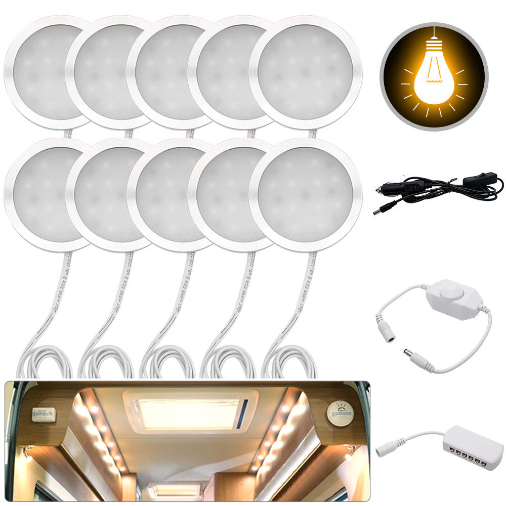 Led-Spot-Lights Caravan Motorhome Interior Warm T4 T5 Camper 12V For VW 3000K 10pcs