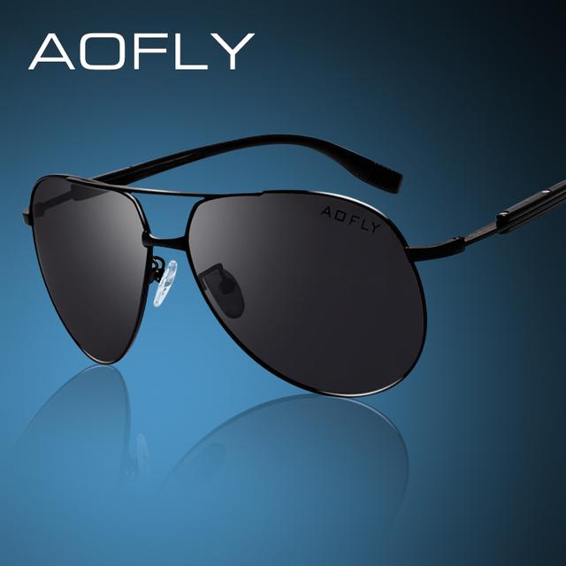 Aofly marca hd polarizada óculos de sol dos homens do sexo masculino de design da marca de óculos de sol polaroid condução pesca óculos de sol óculos de proteção eyewear clássico