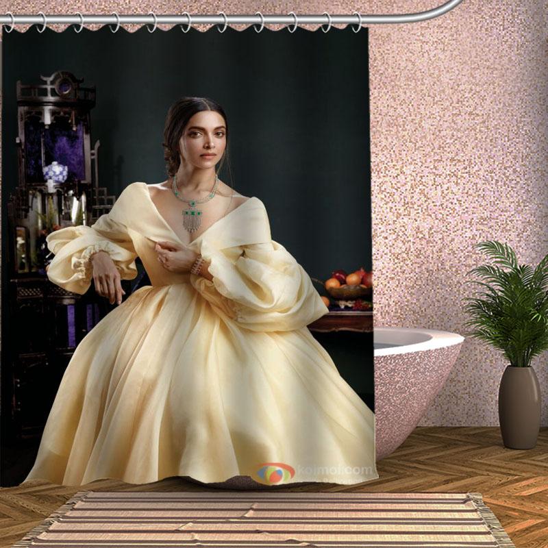 Deepika Padukone Shower Curtain Eco-friendly Modern Fabric polyester Custom Bath Curtains Home Decor Curtains