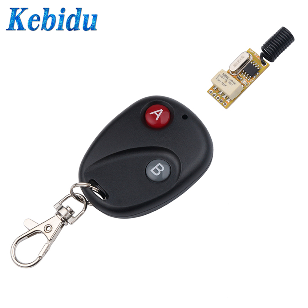 Kebidu Latched Relay Led-Lamp-Controller Micro-Receiver Adjustable Wireless-Switch Momentary-Toggle title=