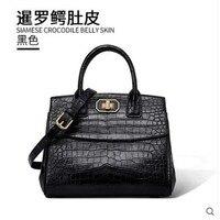 Gete 2019 новая 2019 новая сумка крокодил живот сумка натуральная кожа мода сумка простой крест сумка женская сумка