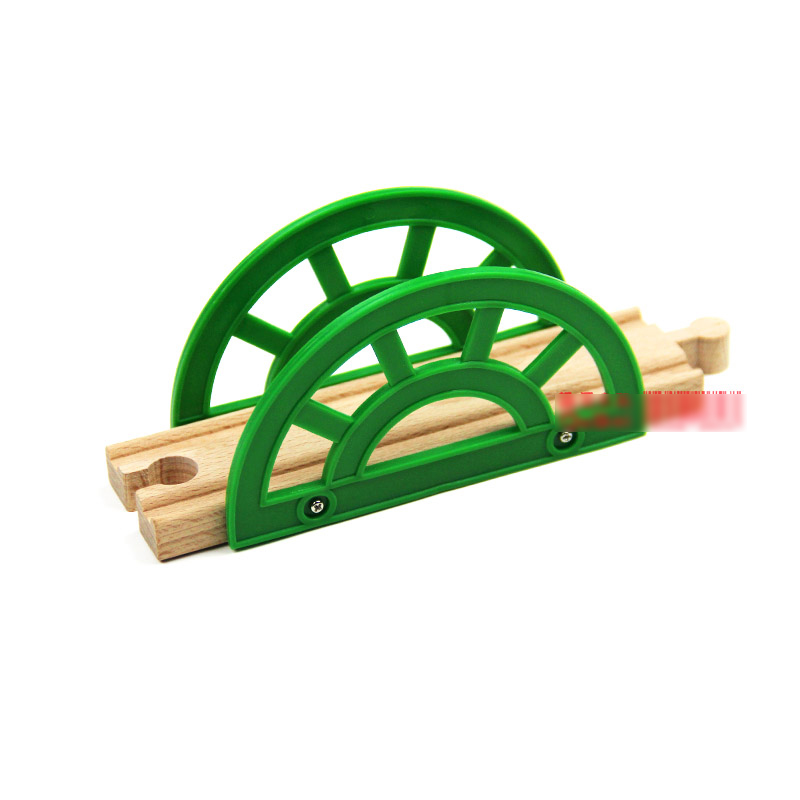 P044 Зеленая Арка мост совместим с деревянной Томас поезд трек для Деревянный электрических вагонов трек сценария игры ...