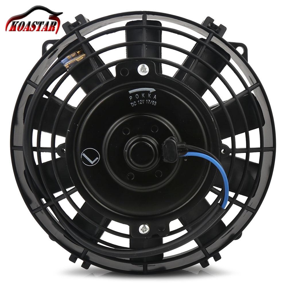 Universel 12 V 80 W 8 Pouces Slim Réversible radiateur électrique ventilateur auto Push Pull Avec Kit De Montage 8