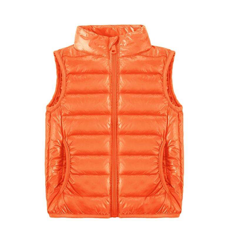 2021 New Children Vests Winter Ultra Light White Duck Down Vest Coats Boys Girls Sleeveless Jacket Kids Windproof Warm Waistcoat 4