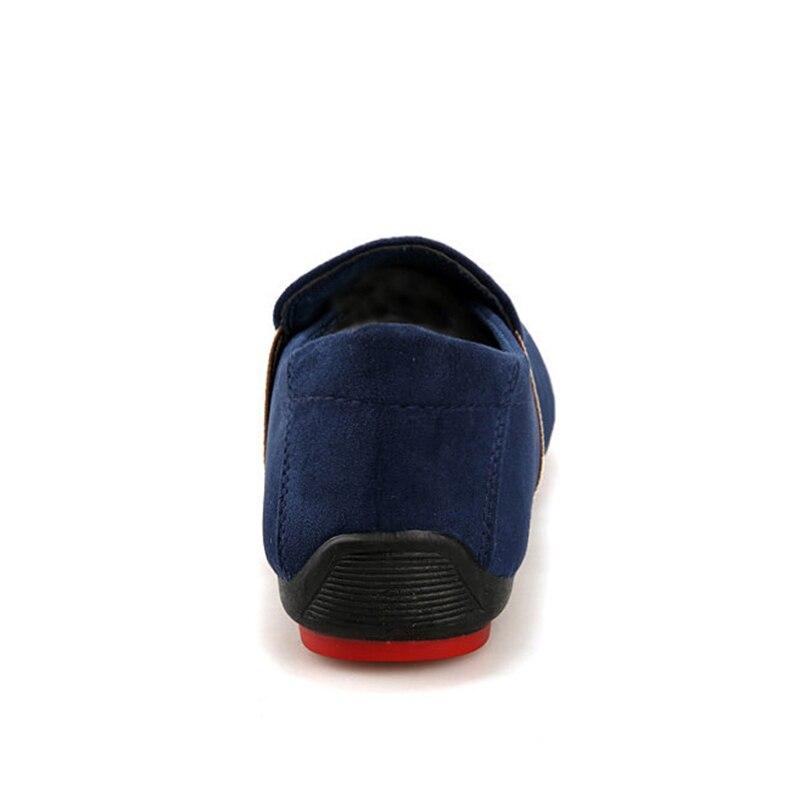 Chaussure Patchwork Noir Mocassins Nubuck Homme Chaussures En Cbjsho Respirant Hommes Légères Occasionnels bleu Cuir Toile TqwR8x4