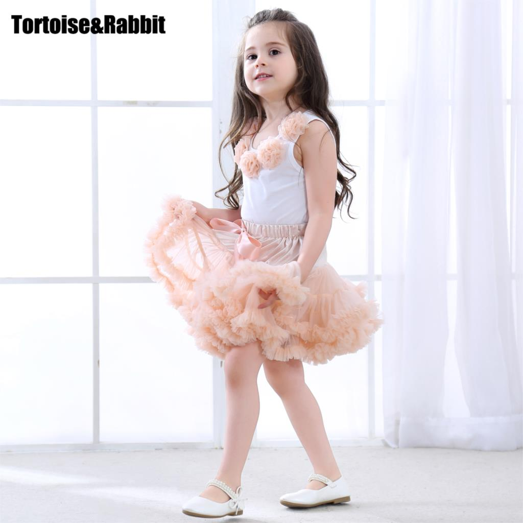 Girls Clothes Set Sport Suit Pettiskirt Sets 2Pcs Kids Floral Fluffy Tutu Skirt & Vest Princess Birthday Party Ballet Dance Wear floral slash neck vest