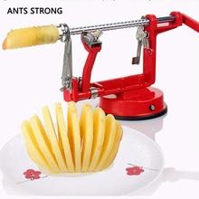 ФОТО ants strong 3 in 1 apple peeler fruit peeler slicing machine/stainless steel apple fruit machine peeled tool creative kitchen
