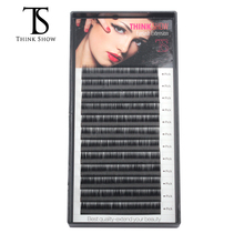 Thinkshow 8-15mm 12 líneas de extensión de pestañas extensiones de extensión de pestañas de salón de belleza hechas a mano seda Lash3D Rusia ojo individual Lash