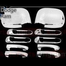 XYIVYG 2002 03 04 05 06 07 08 хромированная ABS зеркальная крышка+ ручка Крышка для 02-08 для Dodge Ram 1500/2500/3500