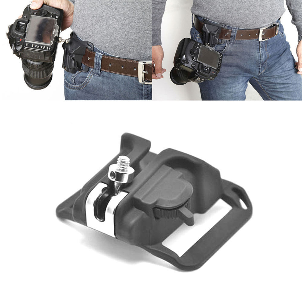 Camera Quick Release Belt Buckle Holster Waist Mount Hanger Clip for Canon Nikon Sony Pentax DSLR DV camera belt clip fast loading holster metal hanger waist belt buckle button mount clip for dslr camera carry tools brand new
