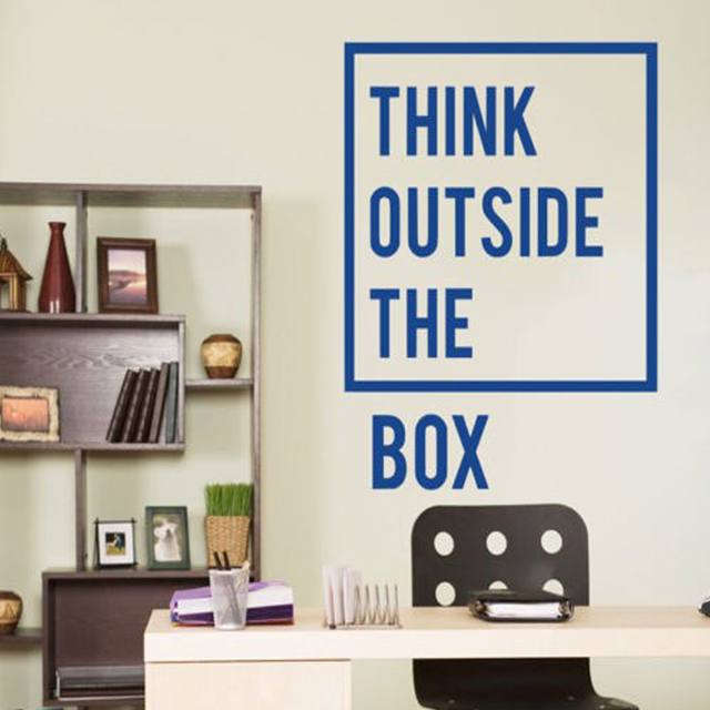 New Style Inspirational Motivational Office Think Outside The Box