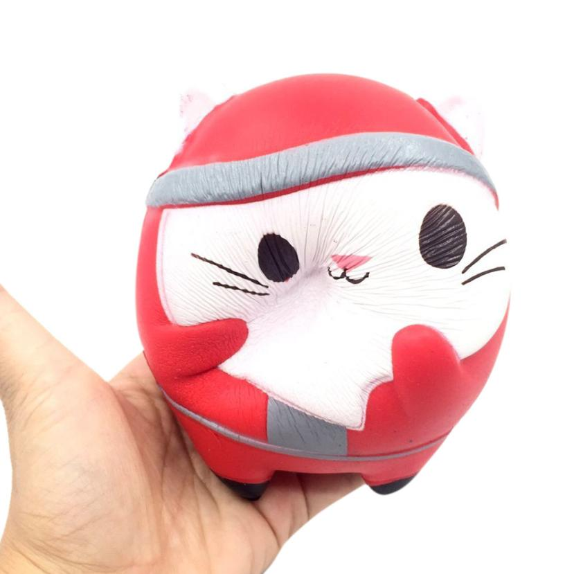 Funny Novelty toy Christmas Cute Cat Scented Squishy Charm Slow Rising 12cm Simulation Kids Toys#