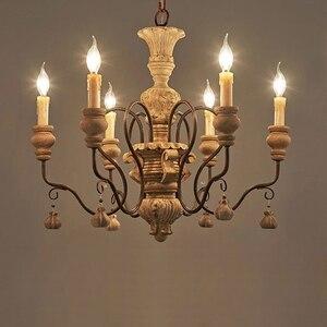 Image 2 - vintage resin chandelier for living room bedroom home decor chandeliers lighting led avize lustre para sala candelabros lustres