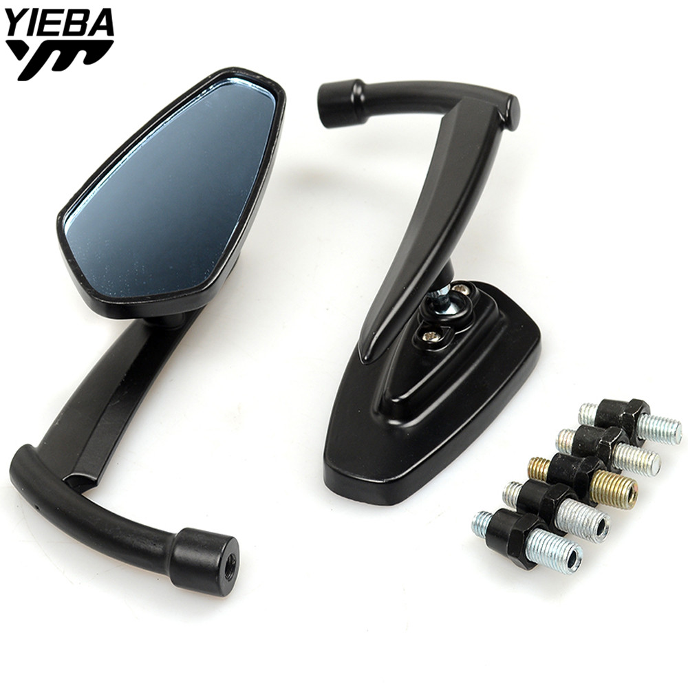 Universal Black Rear Mirrors Motorcycle Motorbike Rearview Mirror Side for Yamaha Tmax 500 530 XJR 400 1300 KTM Duke 390 125 200 motorcycle front rider seat leather cover for ktm 125 200 390 duke