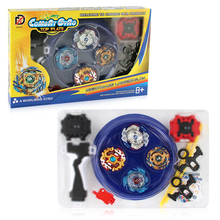 4pcs/set  Spin Tops Arena Toys XD168-6 Metal Fight Bey  Metal 4D Fusion With Launcher Handle Stage Spinning Top For Kids #E