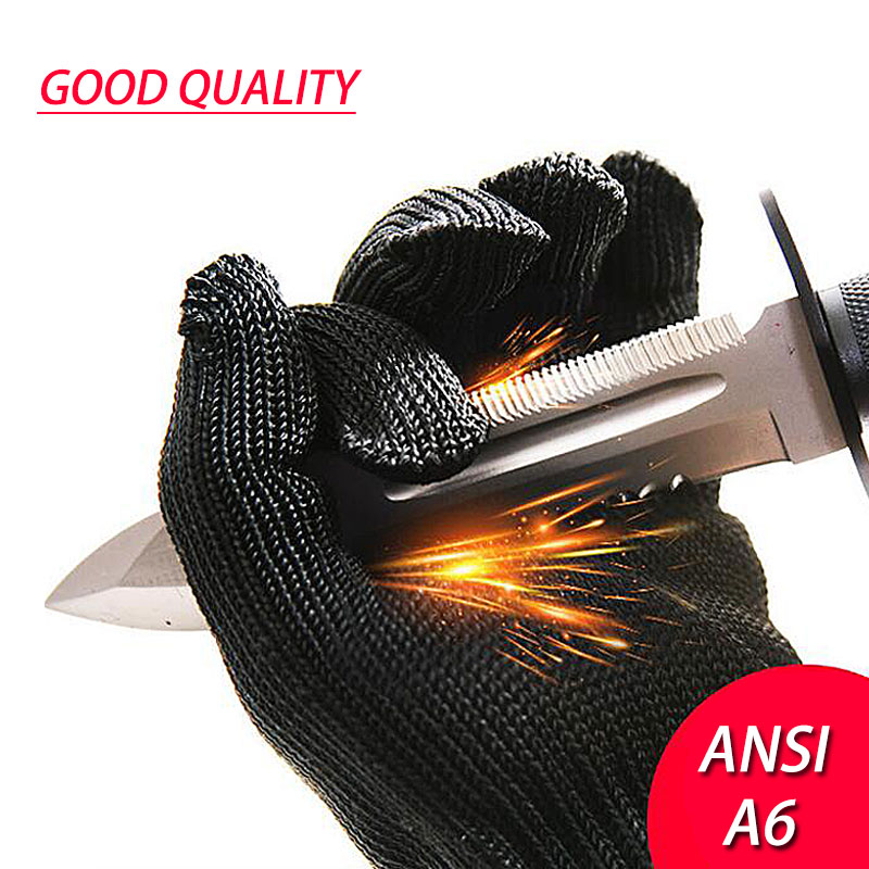 NMSafety 1 Pair Proof Protect Stainless Steel Wire Safety Gloves Cut Metal Mesh Butcher Anti-cutting breathable Work Gloves black stainless steel wire resistace gloves anti cutting breathable work gloves safety anti abrasion gloves free shipping