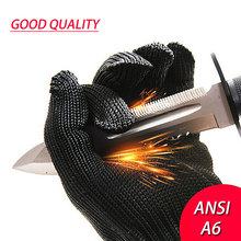 NMSafety 1 Pair Proof Protect Stainless Steel Wire Safety Gloves Cut Metal Mesh Butcher Anti-cutting breathable Work Gloves